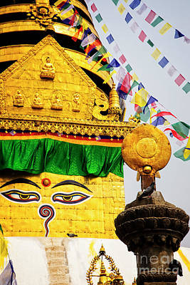 Photograph - Swayambhunath by Scott Kemper
