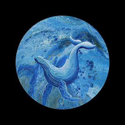 Painting - Swayback Humpback On Black by Darice Machel McGuire