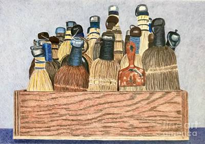 Still Life Drawings - Sweep by Glenda Zuckerman