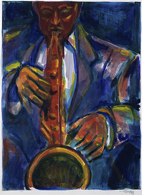 Clarinet Wall Art - Painting - Sweet Charlie Played By Gil Mayers by Gilbert Mayers
