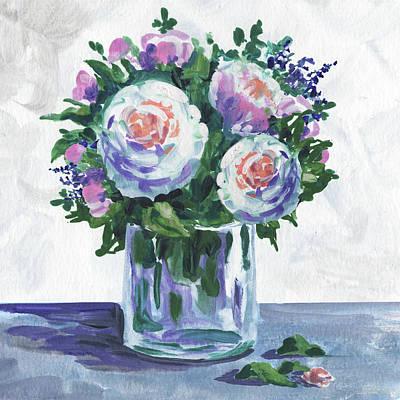 Painting - Sweet Flowers Ranunculus Bouquet Impressionism  by Irina Sztukowski