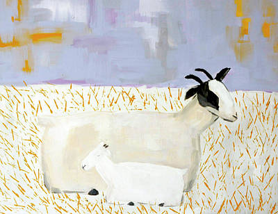Wall Art - Painting - Sweet Little Goats by Kaley Alie