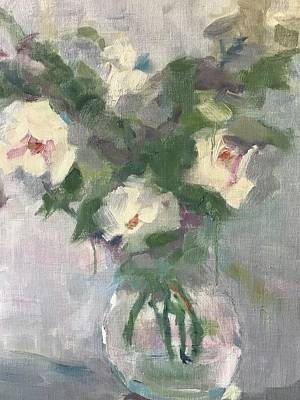 Karen Jordan Wall Art - Painting - Sweet Roses by Karen Jordan