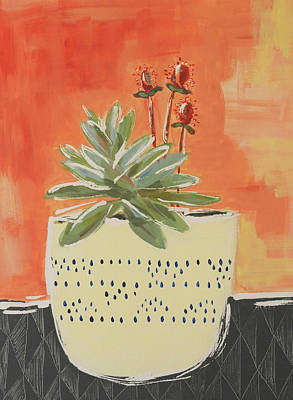 Wall Art - Painting - Sweet Succulent by Kaley Alie