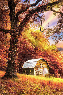 Photograph - Sweet Sweet Country Autumn Painting by Debra and Dave Vanderlaan