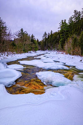 Photograph - Swift River Winter  by Jeff Sinon