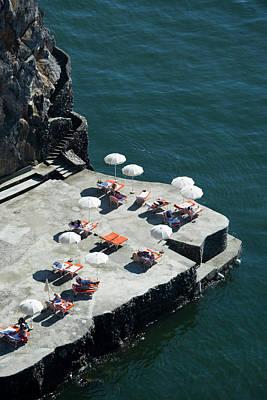 Swimming Deck Of Hotel San Pietro Art Print