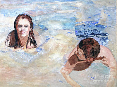 Painting - Swimming In The River by Sandy McIntire