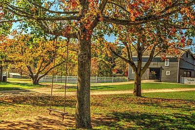 Pediatricians Office Rights Managed Images - Swinging into autumn at Holmdel Park in Holmdel, New Jersey Royalty-Free Image by Geraldine Scull