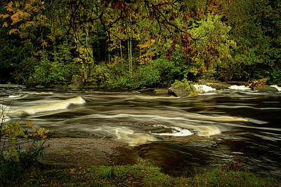 Photograph - Swirling River by David Heilman