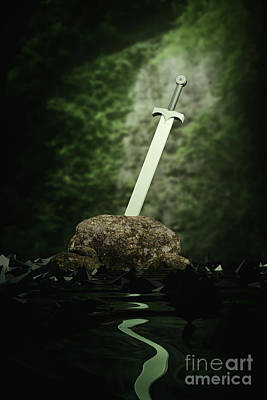 Digital Art - Sword In The Stone by Clayton Bastiani