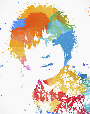 Painting - Syd Barrett Color Splatter by Dan Sproul