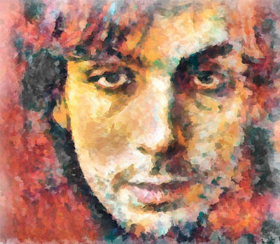 Painting - Syd Barrett by Dan Sproul