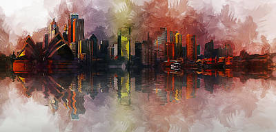 Vesna Antic Abstract Paintings Royalty Free Images - Sydney Australia Royalty-Free Image by Ian Mitchell