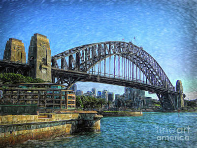 Photograph - Sydney Habour Bridge by Sue Melvin