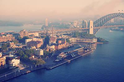 Sydney Harbour And Bridge Art Print by Stuart Ashley