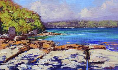 Coy Fish Michael Creese Paintings - Sydney Harbour Balmoral by Graham Gercken