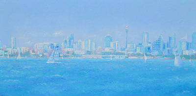 Painting - Sydney Harbour Skyline by Jan Matson