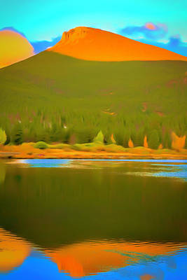Mixed Media - Symmetric Morning Landscape by Dan Sproul