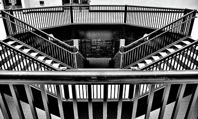 Photograph - Symmetry Steps At The Windsor Station, Montreal 2018 by Jeremy Hall