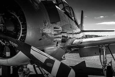 Photograph - T-28b Trojan In Bw by Doug Camara