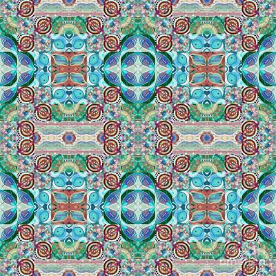 Mixed Media - T J O D Mandala Series Puzzle 7 Arrangement 5 Multiplied And Inverted by Helena Tiainen