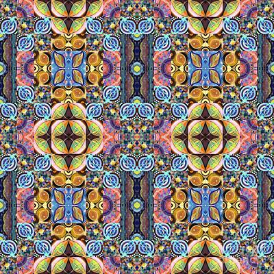 Painting - T J O D Mandala Series Puzzle 7 Arrangement 5 Multiplied Variation 2 by Helena Tiainen