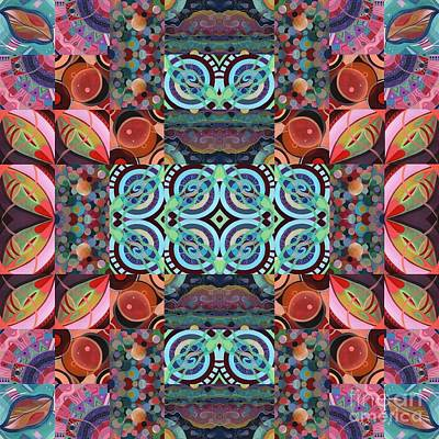 Painting - The Joy Of Design Mandala Series Puzzle 7 Arrangement 6 by Helena Tiainen