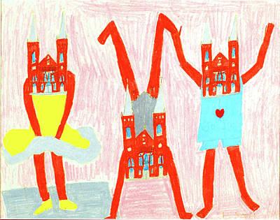 Drawing - Ta Da by Barb Moran