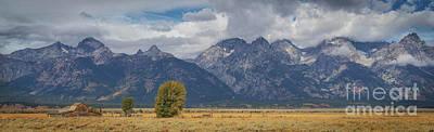 Photograph - T.a. Moulton Barn And Teton Mountain Range by Doug Sturgess