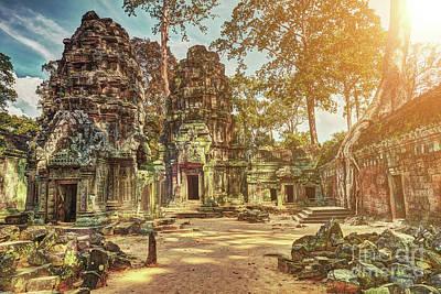 Cargo Boats - Ta Prohm temple angkor wat unesco world heritage site by MotHaiBaPhoto Prints