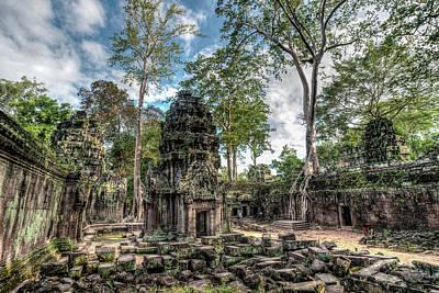 Photograph - Ta Prohm Temple Inside Angkor Complex, Cambodia. by Ian Robert Knight