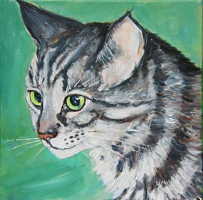 Painting - Tabby Cat by Yulia Kazansky