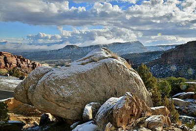 Photograph - Tabegauche From Colorado National Monument by Ray Mathis