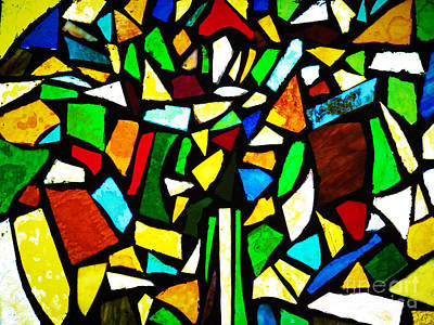 Impressionist Landscapes - Tabernacle Baptist Church Stained Glass VI  by Robert Knight