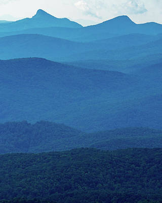 Photograph - Table Rock And Hawksbill  Mountain - Linville North Carolina - Blue Ridge Parkway by Mike Koenig