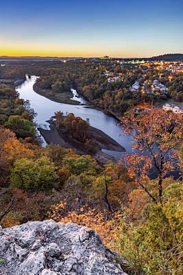 Photograph - Table Rock Lake Autumn Sunset - Missouri Landscape by Gregory Ballos
