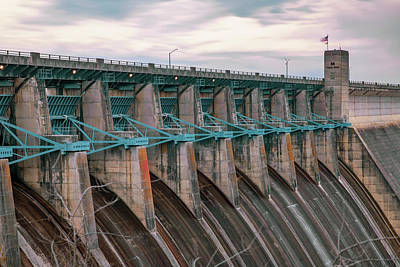 Photograph - Table Rock Lake Dam At Dawn - Branson Missouri by Gregory Ballos