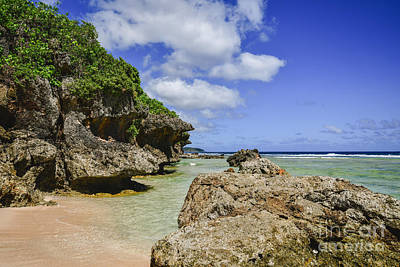 Photograph -  Tagachang Beach Guam by Steven Liveoak