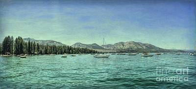 Digital Art - Tahoe Marina Textured by Joe Lach