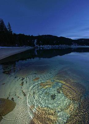Photograph - Tahoe Twilight Ripples by Sean Sarsfield