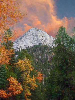 Digital Art - Tahquitz Peak - Lily Rock Painted Version by Glenn McCarthy Art and Photography