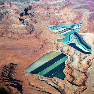 Tailings Ponds Art Print by Fuse
