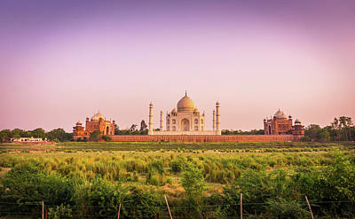 Photograph - Taj Mahal Across The River by Gary Gillette