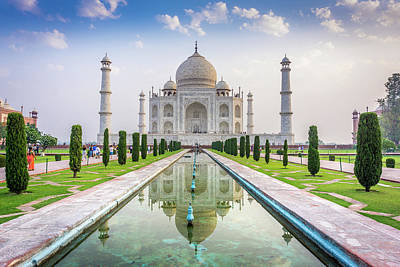 Photograph - Taj Mahal Agra India by Gary Gillette