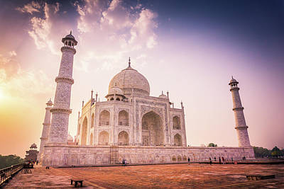 Photograph - Taj Mahal Side View by Gary Gillette