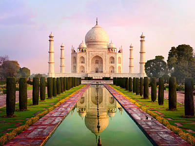 Photograph - Taj Mahal Spectacular Early Morning View by Chuvipro
