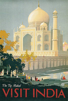 Photograph - Taj Mahal Travel Poster by Graphicaartis