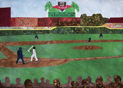Tapestry - Textile - Take Me Out To The Ballgame Inside by Pam Geisel