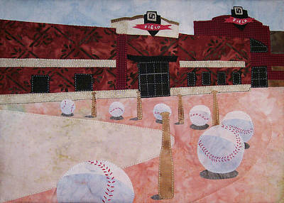 Tapestry - Textile - Take Me Out To The Ballgame Outside by Pam Geisel